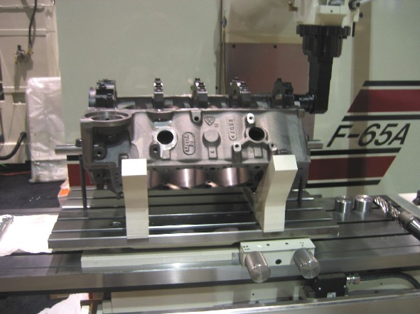 CNC Engine Block Line Boring Right Angle Drive Line Boring No Bar Sag